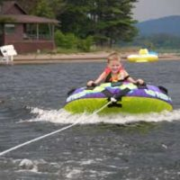 Tubing on Schroon Lake